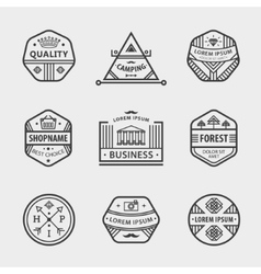 Collection of monochrome hipster vintage vector
