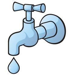 dripping tap vector image
