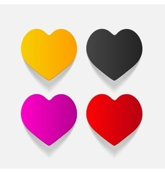 Realistic design element heart vector