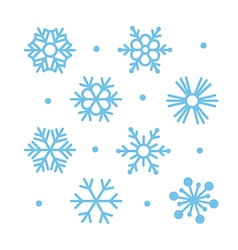 Simple flat snowflakes vector