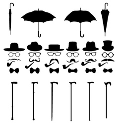 Gentleman icon set 2 vector