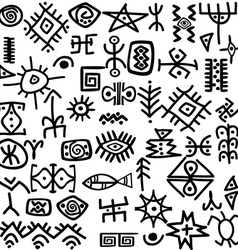 Ancient symbols set vector