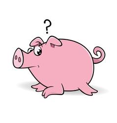 Pig wondering vector