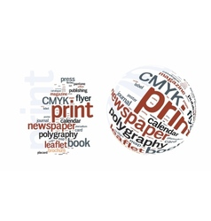 Printing word cloud vector