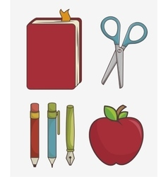 Set of school supplies isolated icon design vector