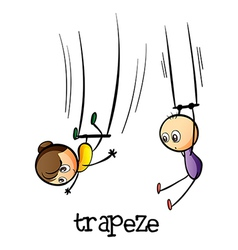 A trapeze show vector image