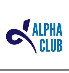 Alpha letter symbol vector