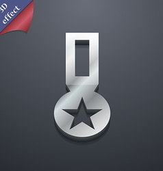 Award medal of honor icon symbol 3d style trendy vector