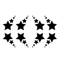 Background black star vector
