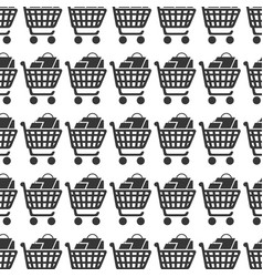 Cart shopping commercial icon vector