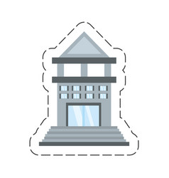 Cartoon building bank commerce vector