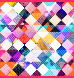 colored cloth seamless pattern vector image