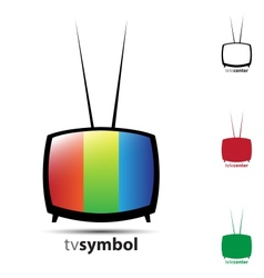 Cute tv vector image