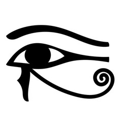 eye of horus icon cartoon vector image