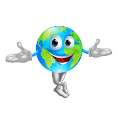 globe world mascot man vector image