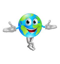 globe world mascot man vector image vector image