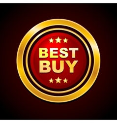 Gold Label Best Buy vector image vector image