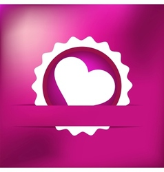 Heart gift present Valentines day EPS8 vector image vector image