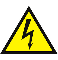 High voltage sign danger symbol black arrow vector