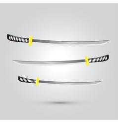 Japanese sword ninja weapon vector