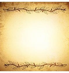Leaf border vintage background vector