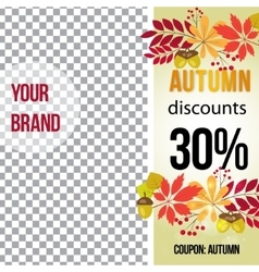 photo frame for promotions autumn banner vector image vector image