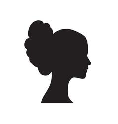 pretty girl profile woman portrait bride face vector image vector image