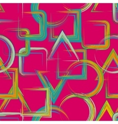 Seamless geometric grange hand drawn paint brash vector image