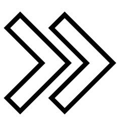 Shift right thin line icon vector