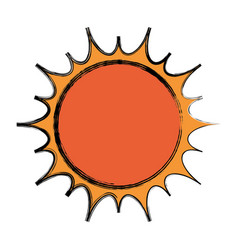 sun isolated symbol vector image
