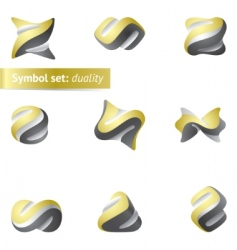 symbol set duality vector image vector image