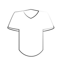 T shirt with v neck icon image vector