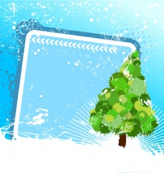 tree with frame vector image