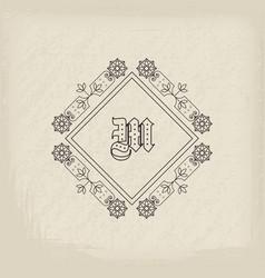 Vintage monogram vector