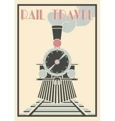 Vintage of steam locomotive - vector