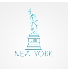 World famous Statue of Liberty vector image