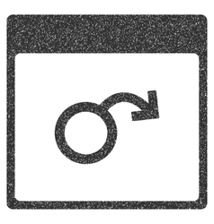Impotence calendar page grainy texture icon vector