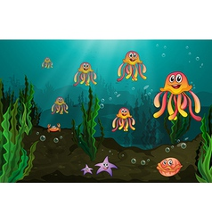 Underwater creatures vector