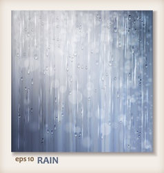 Grey shiny rain Abstract water background design vector image