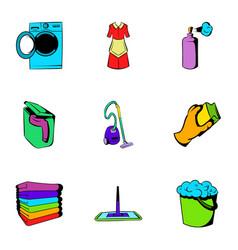 purification icons set cartoon style vector image
