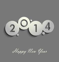 Abstract gray new years wishes vector
