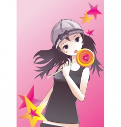 candy girl vector image