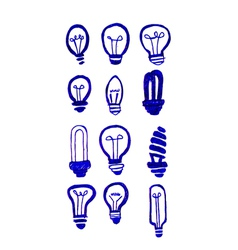 Concept of idea inspired bulb shape vector