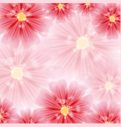 Greeting card with red flowers vector
