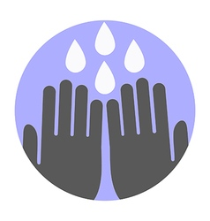 Wash your hands symbol vector