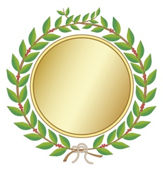 Laurel wreath with medal vector