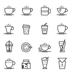 Coffee Icon Bold Stroke vector image