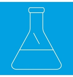 Conical flask thin line icon vector
