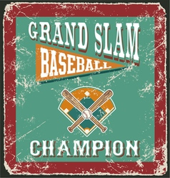 Baseball grandslam card vector