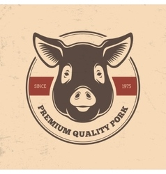 Pig head labels vector